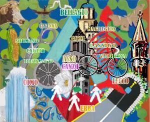 Questa è la Mappa di Comunità che stiamo costruendo online. Quella originale è esposta nell'Atrio della Scuola Media di Asso.
